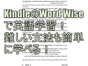 Kindleの「Word Wise」で英語学習!難しい文法も簡単に学べる!